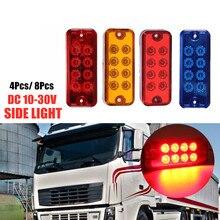 цена на 4/8pcs 12/24V LED Side Marker Lights Warning Lights Turn Signal light for Truck Van Pickup LED Side Lamps Truck Accessories
