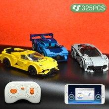Diy cidade app programação de controle remoto esportes modelo de carro blocos de construção high-tech carro de corrida tijolos presentes brinquedos para crianças