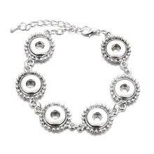 Pulsera de broche intercambiable para mujer, brazaletes de Metal, Charms para mujer, ajuste de 12mm, broches de presión, joyería ZE156