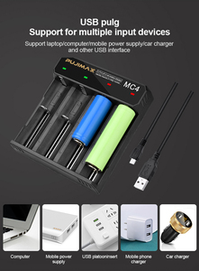 Image 4 - PHOMAX 4 Slot 18650 MC4 LED Smart Display Battery fast charging 17650 18700 14500 26500 IMR/Li Ion Rechargeable Battery Charger