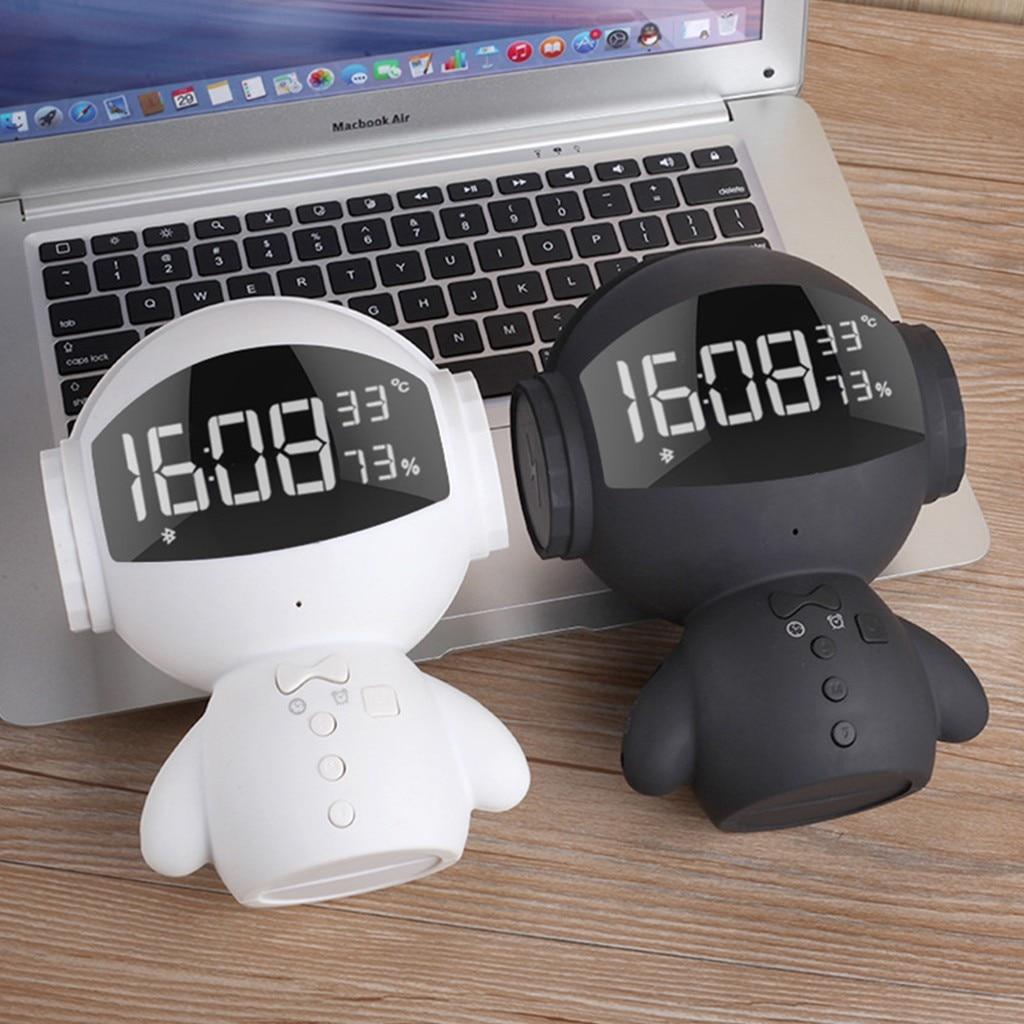 Support de forme de Robot de haut-parleur Bluetooth sans fil Portable Mini batterie externe karaoké FM mains libres musique Surround résistance à l'eau