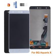 Оригинальный для BQ Aquaris X ЖК дисплей кодирующий преобразователь сенсорного экрана в сборе для BQ Aquaris X Экран ЖК дисплей Замена Бесплатные инструменты