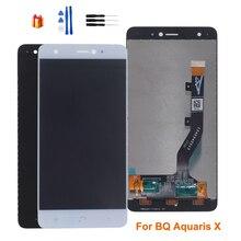 Orijinal BQ Aquaris X için LCD ekran dokunmatik ekranlı sayısallaştırıcı grup BQ Aquaris X için ekran LCD değiştirme ücretsiz araçlar