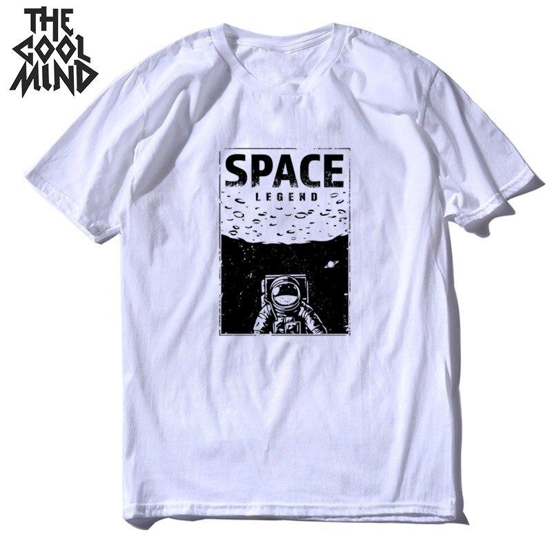COOLMIND 100% Cotton Summer Cool Space Print Men T Shirt Casual O-neck Men Tshirt Summer Loose T-shirt Tops Men Tee Shirts Tops