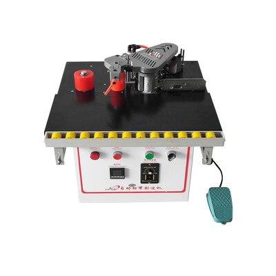 QF102 mini machine manuelle de baguage de bord de pvc de travail du bois avec la découpeuse de bord de pvc elle-même et le contrôle de vitesse