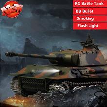 Высокая симуляция курения bb пуля rc боевой танк игрушка пульт