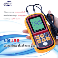Digital LCD Ultrasonic Thickness Gauge Meter GM100 high precision Steel thickness tester 1.2 225mm 0.1mm Resolution