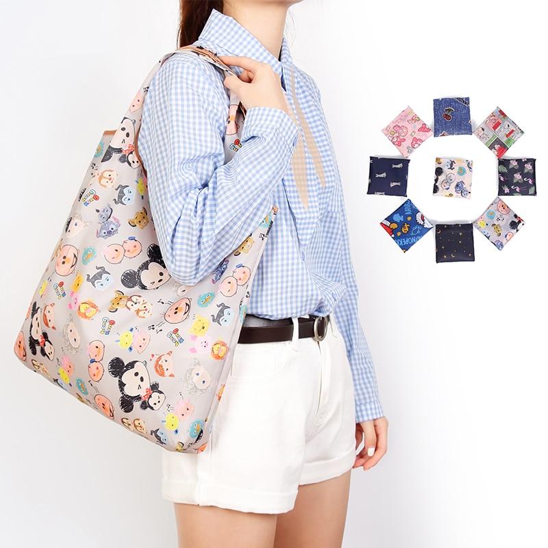 Eco-Friendly Foldable Shopping Bags Premium Reusable Bag Small Size Handle Folding Tote Grocery Slight Quality Duty Handbag