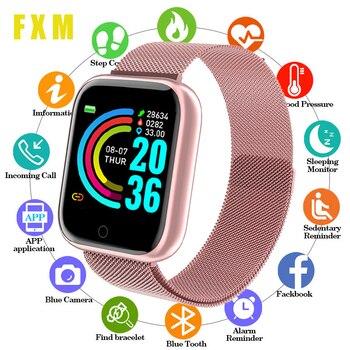 Smart Watches Women Heart Rate Sleep Monitoring Waterproof Sports Smartwatch Men Fitness tracker For IOS Android Digital Watch недорого