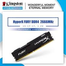 Kingston memoria RAM de escritorio HyperX FURY DDR4 2666MHz, 8GB, 16GB, CL16 DIMM, 288 Pines, para juegos