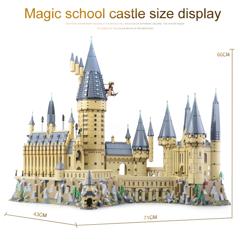 Hogwarts Castle Building Blocks Educational Toys Kit Boys Xmas Gift