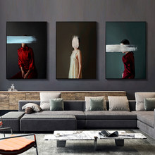 DDWW Wall Art Canvas Figure Painting Wall Picture Beauty Print for Living Room Home Decor No Frame Canvas Painting