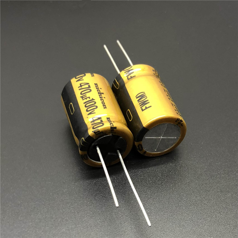 2pcs/10pcs 470uF 100V470uF NICHICON FW Series 16x25mm HiFi DIY High Grade Audio Capacitor