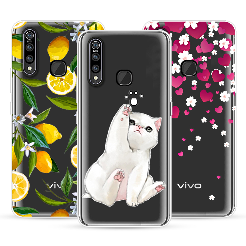 Cartoon Case For VIVO Z5X/For VIVO Z1 Pro,Mobile Phone Shell,TPU Material Painted Beautiful Color Painting Case.19 Colors!