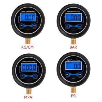 цена на Digital Tire Pressure Gauge Car Bike Motorcycle Tyre Tester Air PSI Meter 1/8NPT