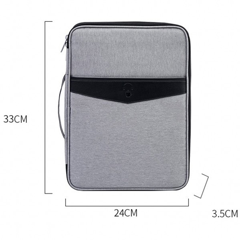 Business Multifunctional A4 Document Bags Portable Waterproof Oxford Cloth Filing Products Storage Bag For Notebooks Pens
