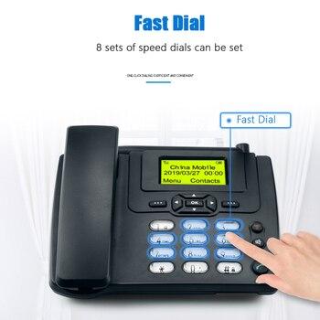 GSM carte SIM bureau sans fil téléphone maison téléphone fixe support mural avec Radio FM fixe radiotéléphone filaire téléphone maison noir