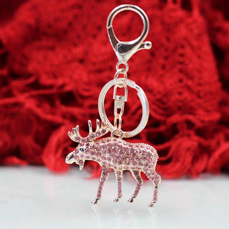 Vick Dolly розовое золото модный брелок многоцветный Сика олень Рейн автомобильный подарок брелок женские сумки Висячие украшения