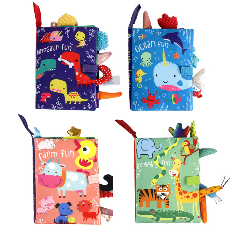 Baby Cartoon Cloth Book Newborn Early Educational Games Toys 0-24 Month Christmas Birthday High Quality Gifts For Kids Children