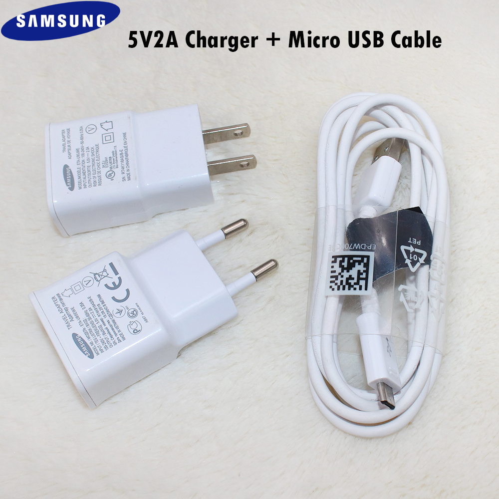 Original <font><b>Samsung</b></font> 5V2A Wall <font><b>Charger</b></font> Power Adapter 100/150cm Micro USB Cable For <font><b>Galaxy</b></font> A3 A5 <font><b>A7</b></font> A9 2016 J3 J5 J7 2015 A10 M20 M30 image