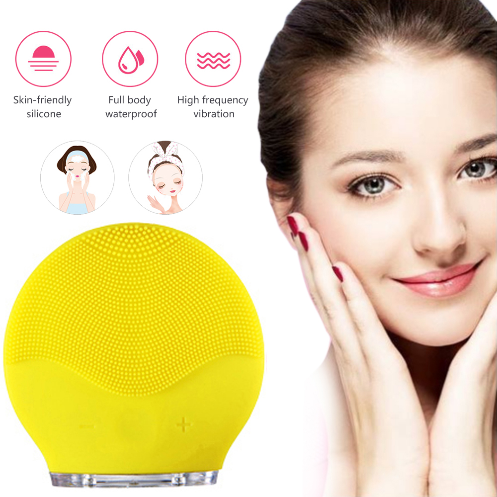 Silicone Electric Facial Cleanser Washing Brush Mini Facial Cleansing Brush Massage Device Deep Clean Machine