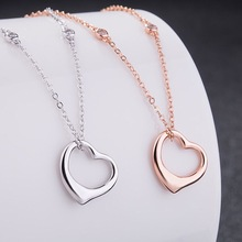 Fashion Classic 4 Zircons Chain Open Love heart S925 Pendant Necklaces for Women Valentine Gift Hot Sale 1:1 Brand Jewelry