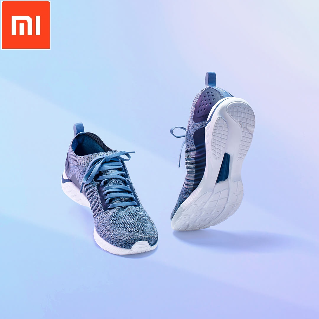 Xiaomi 90 Points Ultra Light Running Shoes Knit Shoes Wear Light Soft Insole Flying Woven Breathable Sports Fitness Shoes Smart