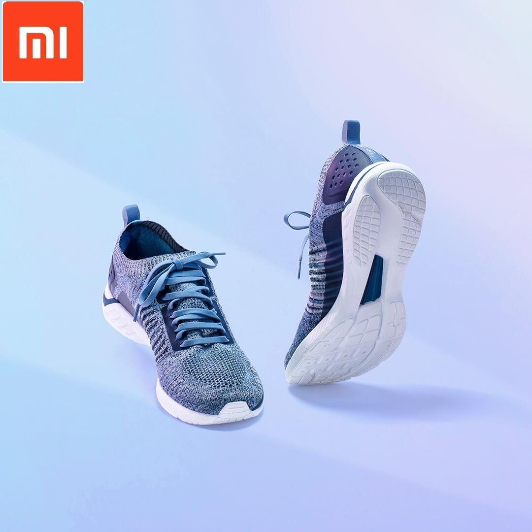Xiaomi 90 очков ультра легкие кроссовки вязаная обувь носить легкие мягкие стельки вразлёт, плетение дышащая Спортивная обувь для фитнеса смарт