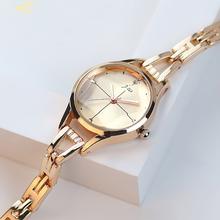 Nowe marki JW damskie bransoletki z zegarkiem luksusowy kryształ sukienka zegarki zegar Ladies #8217 fashion Casual zegarki kwarcowe reloj mujer tanie tanio GEDI QUARTZ Bransoletka zapięcie Stop Nie wodoodporne Moda casual 8 7mm ROUND 7 5mm Szkło 6307 19 9cm Z tworzywa sztucznego