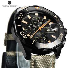 PAGANI DESIGN Top Luxury Brand cintura in Nylon da uomo orologi cronografo Sport Business orologio da polso al quarzo impermeabile orologio da uomo uomo