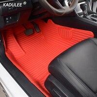 KADULEE Custom Car Floor Mats for Mitsubishi outlander pajero grandis ASX pajero sport lancer galant Lancer ex foot MATS