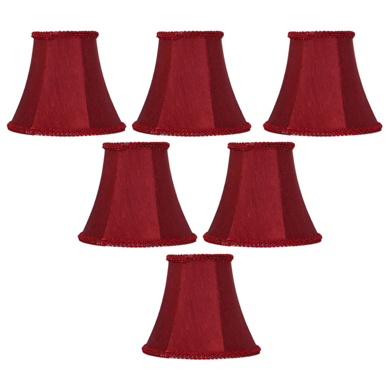 DIA 15cm Sprinkle Red Color Lamp shades for Lamp, Retro Style Indoor Chandelier Lampshades Home Decoration, Clip On