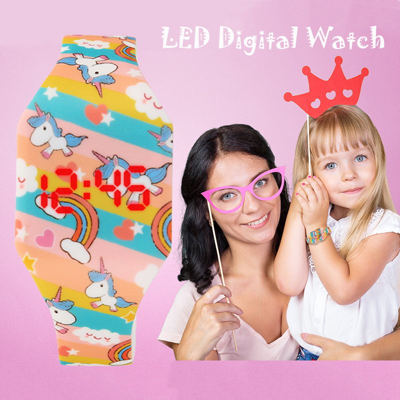 He4906fc5f2a54051934ae0bab47f5d435 - Hot Cartoon Children's Watches Cute LED Digital Watch Kids Student Electronic Watch Dinosaur Clock For Girls Boys Reloj Infantil