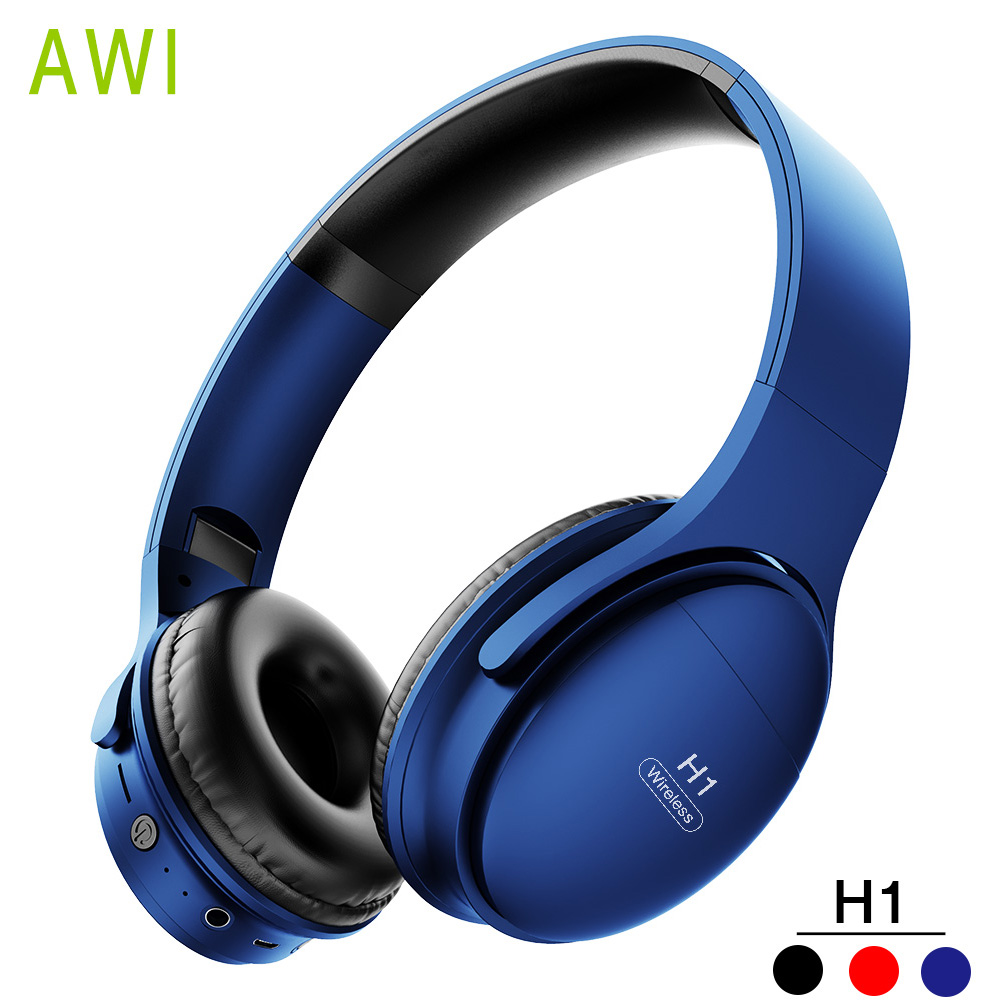 Awi H1 Wireless Bluetooth Headphones Noise Canceling Headsets Sport Stereo Earphone With Mic Gaming Headset Suport Tf Card Bluetooth Earphones Headphones Aliexpress
