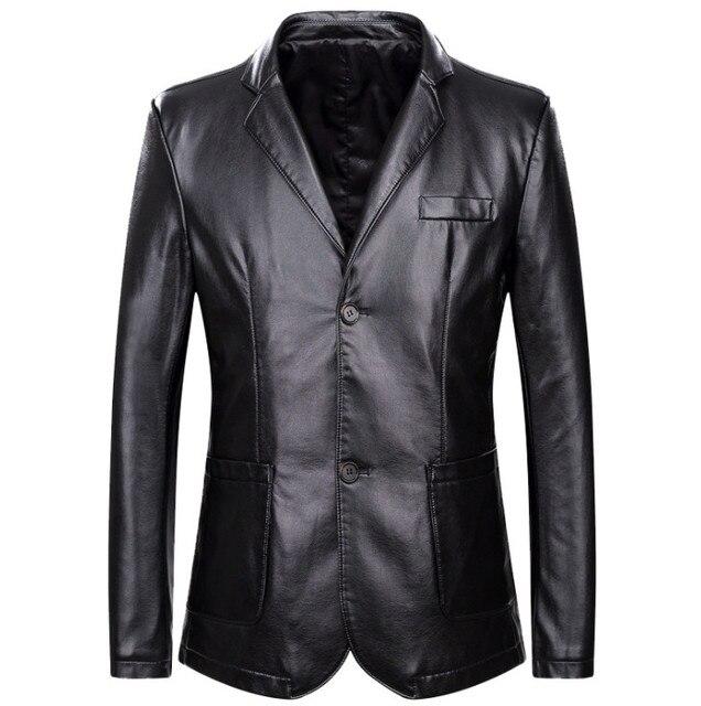 Dropshipping xuân thu rời lưng áo khoác da nam Plus da size áo khoác nam phối da