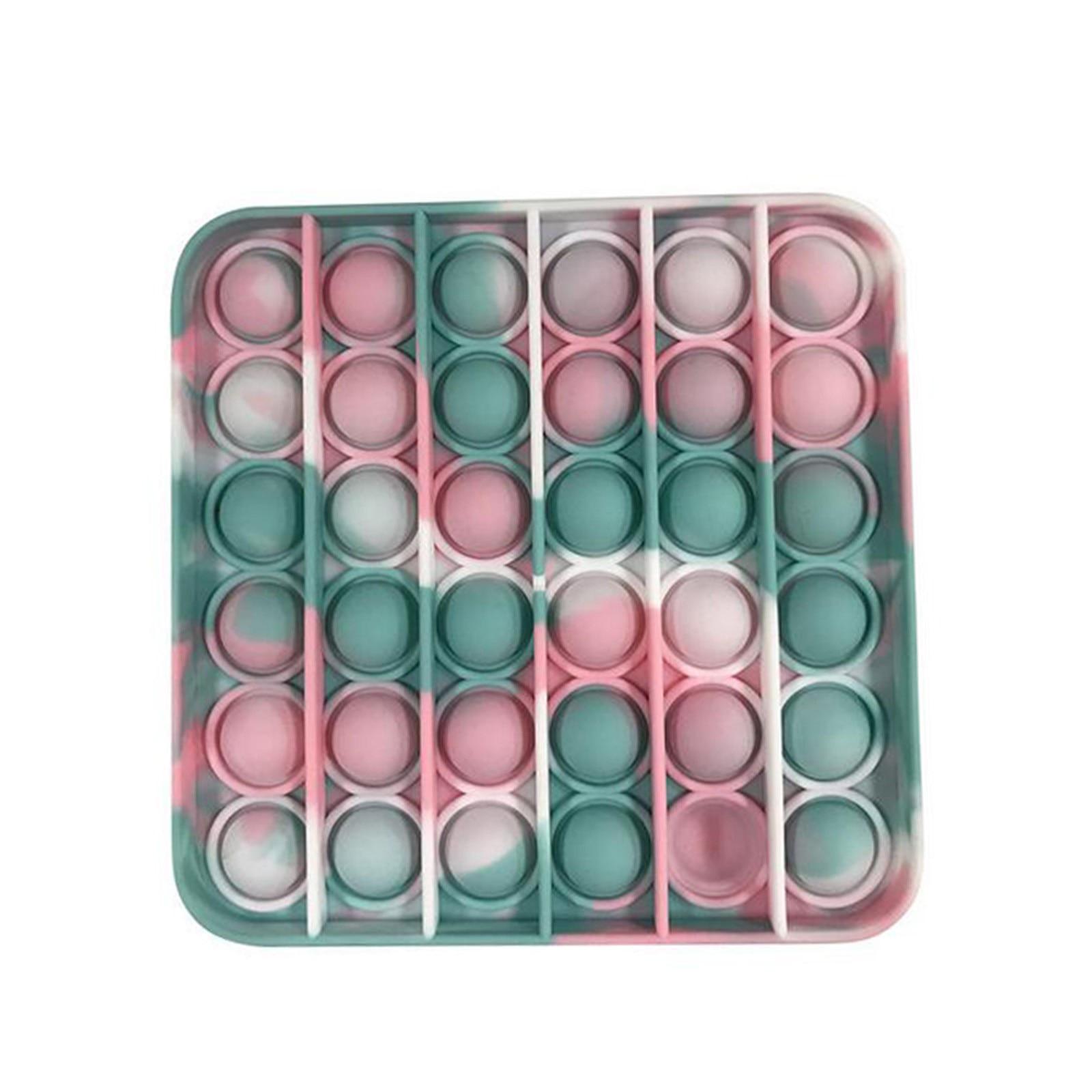 Popit Fidget Bubble-Stress Autism Dye-Color It-Rainbow/Tie Kids Reliever Adult Toy img3