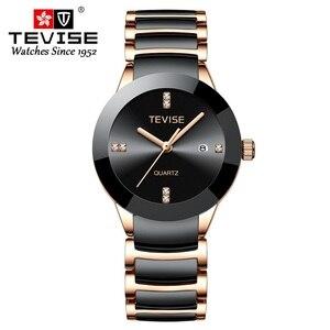 Image 3 - TEVISE T845LS Das Mulheres Relógios Relógio de Quartzo Mulheres Moda Casual Senhoras Cerâmica Relógio Relógio de Pulso À Prova D Água Ferramenta de Correção Dropshipping