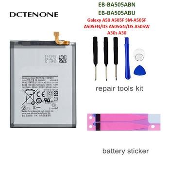DCTENONE Phone Battery EB-BA505ABN EB-BA505ABU 4000mAh For Samsung Galaxy A50 A505F SM-A505F Replacement Batteries смартфон samsung galaxy a50 64gb sm a505f 2019 синий