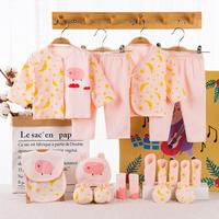 Cute Cotton Printing Infant Cotton Baby Suit Gift Set Baby New year Supplies baby outfit set Newborn Baby Boys Girls Clothes