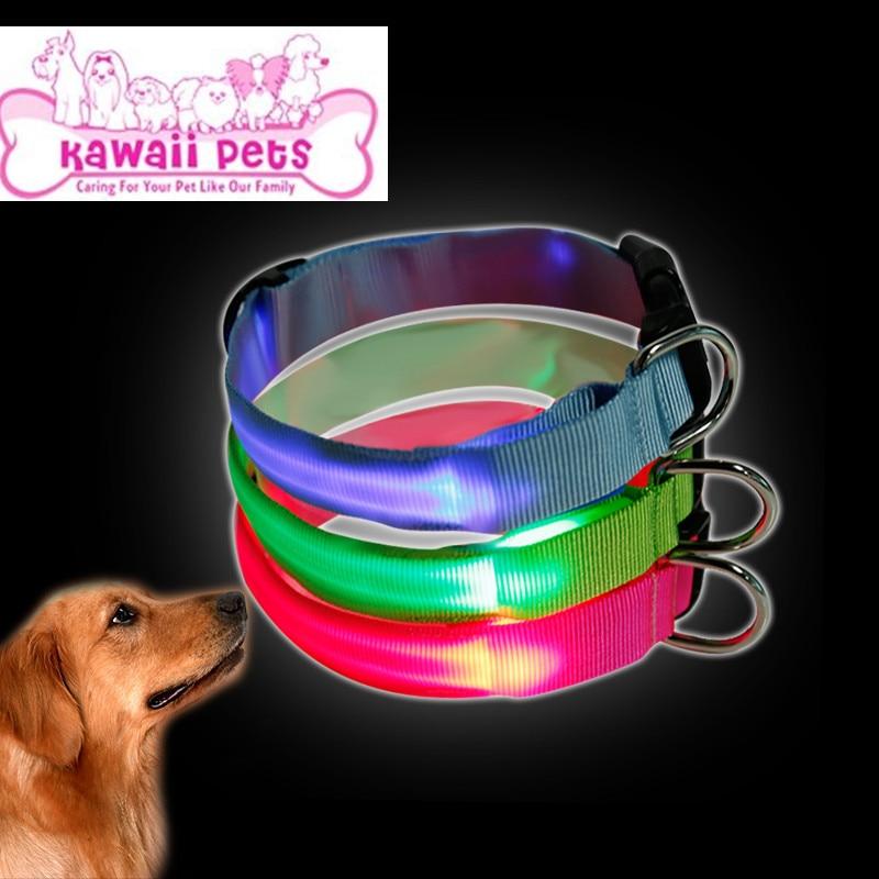 New Style LED Luminous Pet Collar Collar Teddy Golden Retriever Dog Night Light Neck Ring Fluorescent Dog Neck Ring