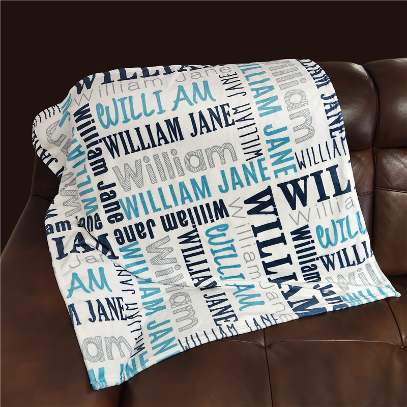 Baby Blanket Swaddling For Baby Blankets Newborn Name Personalized Fleece Baby Bedding Infant Crib Blanket Swaddle Baby Gift
