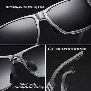 Image 4 - Солнцезащитные очки CAPONI Мужские поляризационные, зеркальные солнечные аксессуары квадратной формы, для вождения, с защитой от ультрафиолета, в винтажном стиле, CP6560