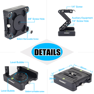 Image 3 - INNOREL MH5 foldable tripod head Z shaped quick release plate can be rotated Vertical tilt Photographing Suitable for camera
