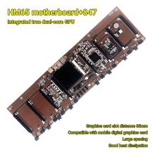 Dropshipping HM65 + 847 zintegrowany procesor BTC Minging 8 gniazda kart pamięci DDR3 płyta główna dla Rx580 1660 3080 3090 tanie tanio selectec CN (pochodzenie) Other NONE Dostępny w magazynie Motherboard