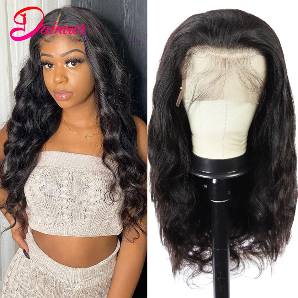 Brazilian Body Wave Wigs 13x4 Lace Front Human Hair Wigs Pre Plucked 4x4 Human Hair Lace Closure Wig For Women Remy Dainaer Hair