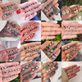 Серьги-гвоздики геометрической формы с кристаллами женские, Винтажные Ювелирные украшения в стиле бохо с изображением совы, змеи, ракушка, ...
