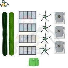 Yedek filtre toz torbası enkaz extractor rulo fırça iRobot Roomba S9 fırça 9150 S9 + 9550 yedek parça aksesuar
