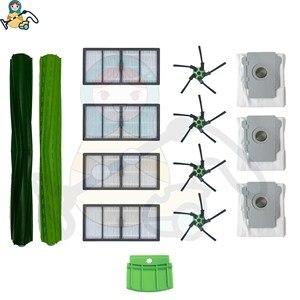 Image 1 - החלפת מסנן אבק שקית פסולת חולץ רולר מברשת לirobot Roomba S9 מברשת 9150 S9 + 9550 חילוף חלקי אבזרים