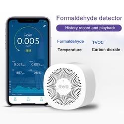 Air Quality Tester Phone APP Monitor Formaldehyde TVOC Carbon Dioxide CO2 Temperature Monitor Detector High Sensitive