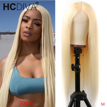 Straight perruque blonde 70cm 613 Blonde Brazilian Remy Human Hair Wig 5 inch De
